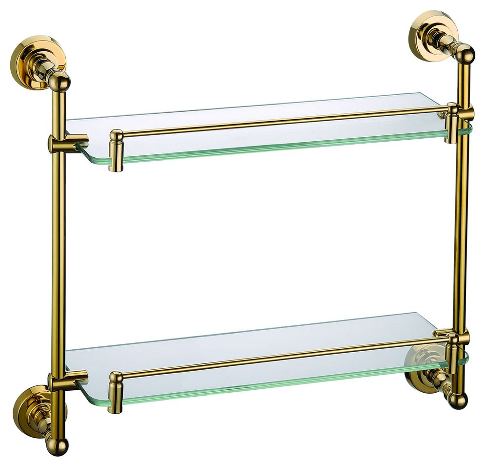 New  Bathroom Shower Caddy Cosmetic Glass Shelf Glass Bathroom Shelves