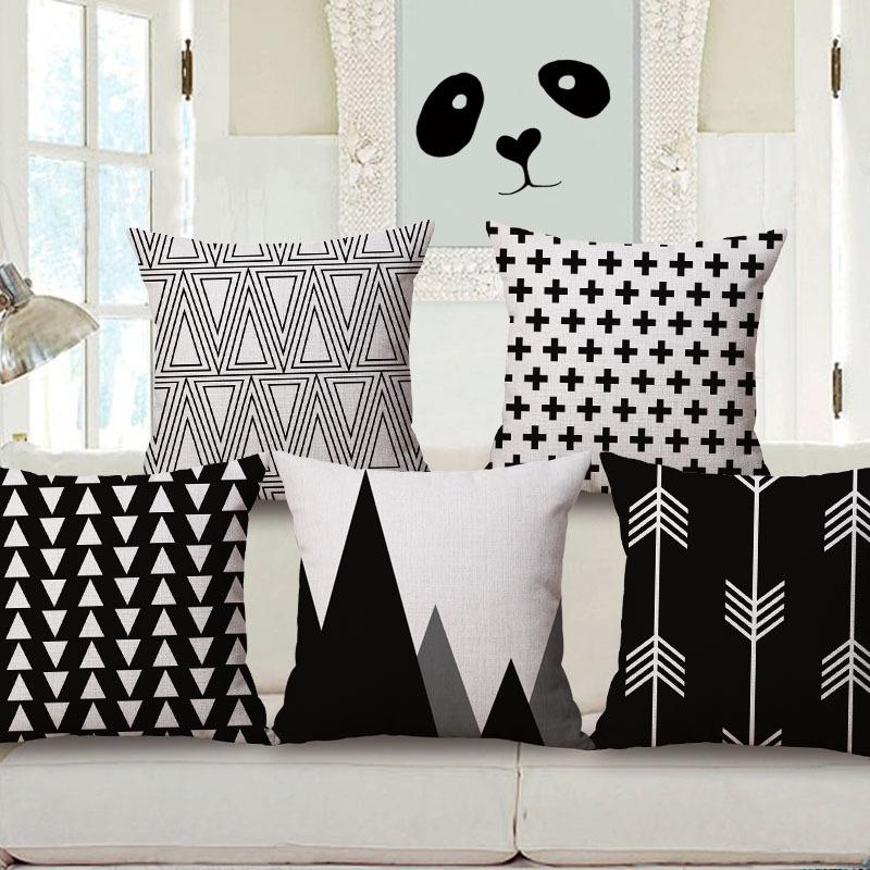 Free shipping throw pillow wedding decor linen fabric gift Hot sale 100% new 45cm Lovely elephant Boho sofa cotton cushion cover