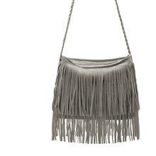 TOPHIGH Сумка женская кожаная сумка панк кисточкой сумки на плечо Модные женские большие сумки Сумка Bolsa Franja(China)