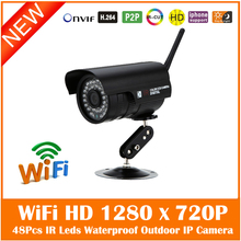 FTP Обнаружения Движения Wi-Fi 1.0MP HD 1280×720 P Пуля Ip-камеры 802.11b/g/n Беспроводной Открытый водонепроницаемый Сетевая Камера Наблюдения