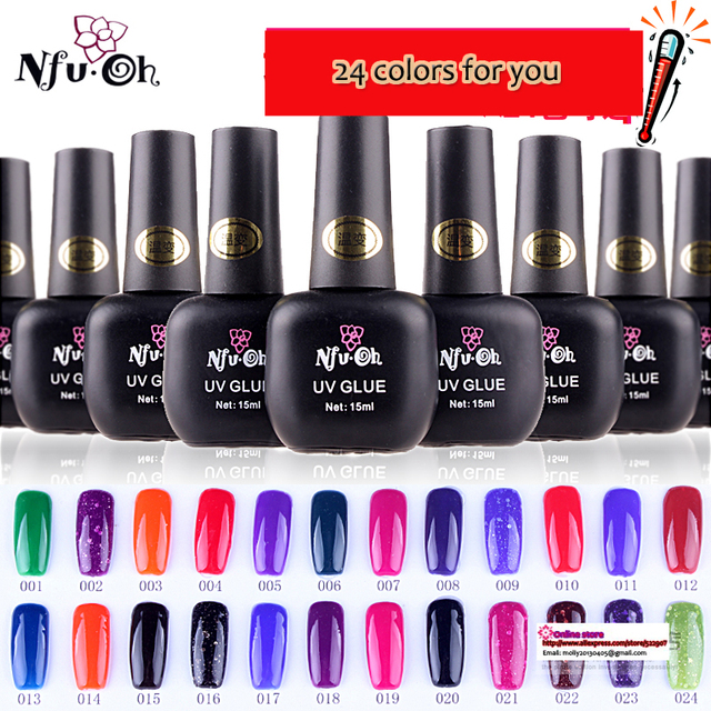 15ML nail gel,uv color change nail gel, free shipping