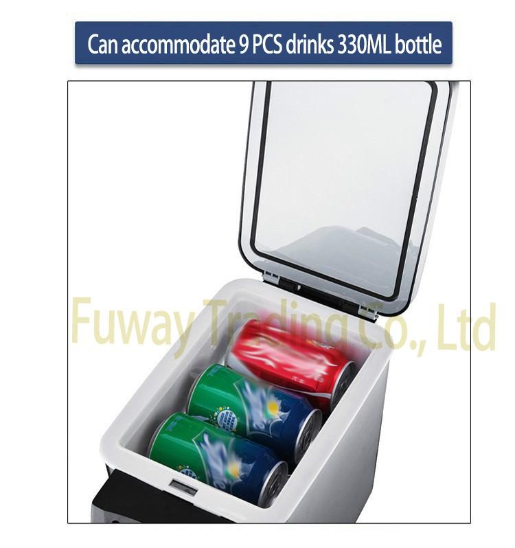 ถูก จัดส่งฟรี!!!รถตู้เย็นขนาดเล็ก6Lรถตู้เย็นABSมินิเย็นตู้เย็นและเครื่องทำความร้อนมัลติฟังก์ชั่แบบพกพารถตู้แช่แข็ง