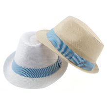 Various Colors Fedoras Children Hat Checked Kids Jazz Cap Spring Autumn Dicers Baby Hat & Cap Cowboy Hat 10pcs FH041