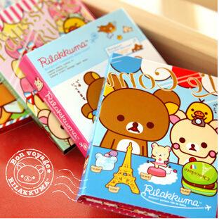 Гаджет  Free Shipping! New Cute rilakkuma on travel Notepad / Memo / 4 fold sticky note pad / notebook None Офисные и Школьные принадлежности