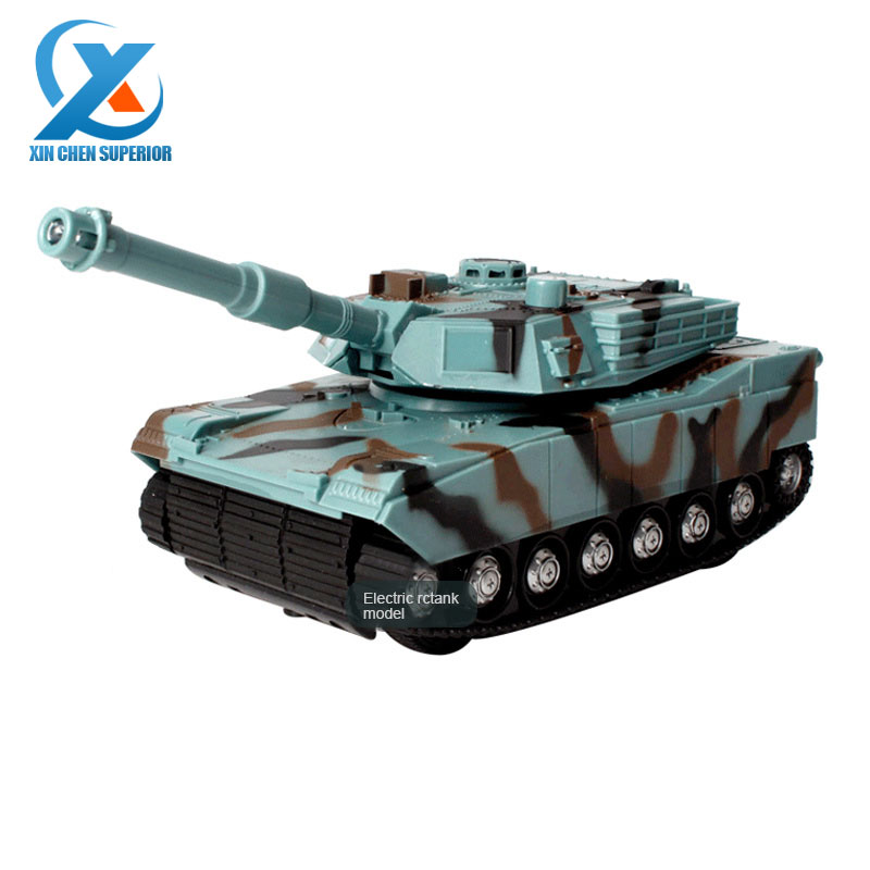 Electric Model RC Simulation Tank Manually Rotaty Emplacement Children Remote Control Toy Birthday Gifts for Boys Fast Shipping