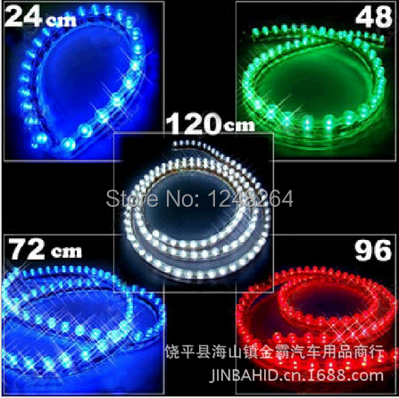 12V 1W 1A 24 cm high quality LED China open light/ Chassis lamp /Wheel lights/ car decorative light bar /Red,green,white,blue(China (Mainland))