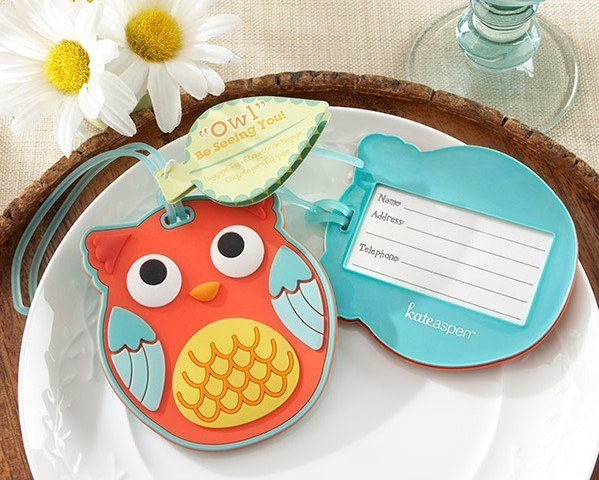 """Free shipping Factory directly sale NEW ARRIVAL 20pcs/lot Wedding favor """"Owl"""" Be Seeing You"""" Owl Luggage Tag + Baby shower(China (Mainland))"""
