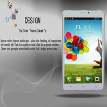 7 » планшет пк Android 4.4 3 г вызова Duai-Core Google 1.3 ГГц 16 ГБ Bluetooth WI-FI GPSWCDMA GSM  Dual SIM White