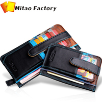 Free Shipping 2014 Luxury Credit Card Holder Leather Strap Buckle Bank Card Purse Card Case ID Holders Business Card Wallets