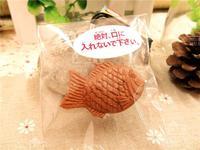 10pcs/lots 4cm cute muti color fish in original packaging  squishy