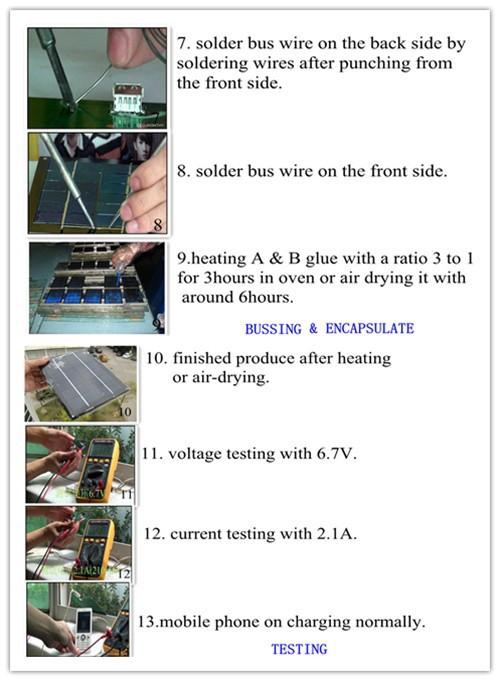 Batterie 123a Heiß * 6x6 4w Solarzellen + Tabbing Draht + Lötkolben ...