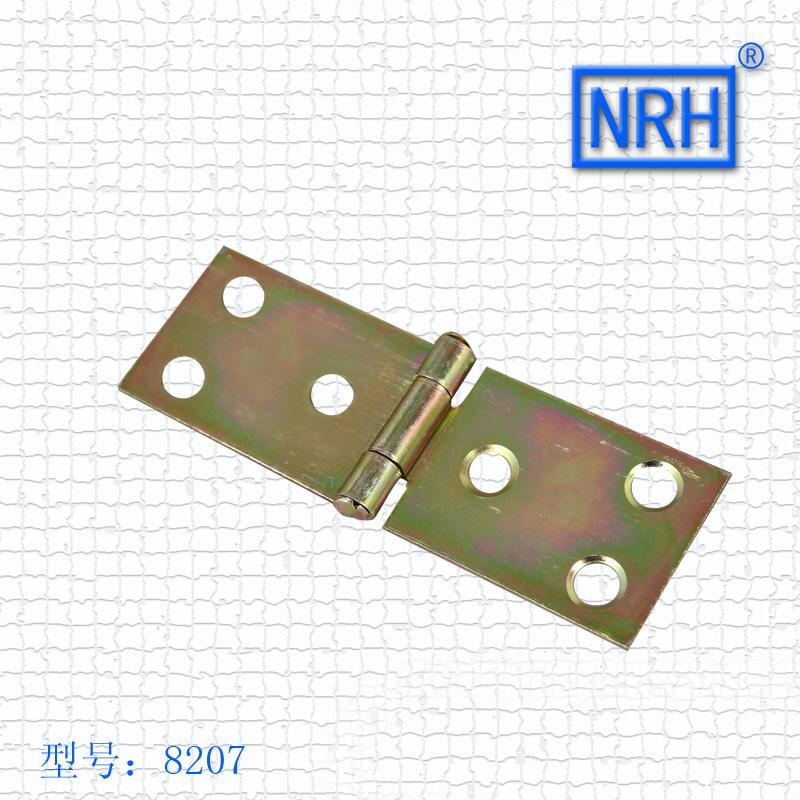 8207 plating color zinc plate hinge 81*28mm NRH hardware wooden case furniture square plate hinge 24pcs/lot(China (Mainland))