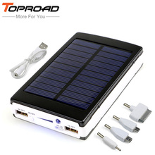 Portable Solar Power Bank 12000MAH bateria externa portatil Dual USB LED External Mobile Phone Battery Charger Backup Powerbank(China (Mainland))