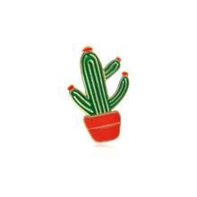 Più Del Fumetto Mini Spille Smalto Spille Foglia di Cactus Occhiali Da Sole Succo di Flamingo Chitarra Gatto Palm Giubbotti jeans Risvolto Spille Distintivi e Simboli(China)