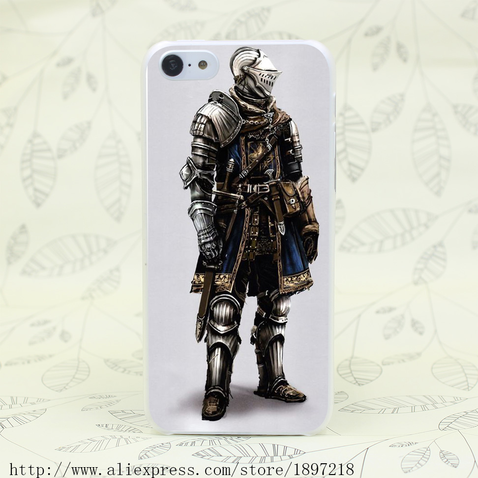 2963T Knight In Dark Souls Hard Transparent Cover Case for iphone 4 4s 5 5s 5C SE 6 6s Clear Cell Phone Cases(China (Mainland))