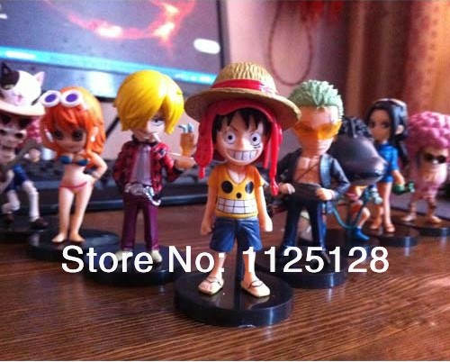Free Shipping 8 PCS/SET One Piece Movie THE NEW WORLD PVC Action Figure Collection Model Toys gifts(China (Mainland))