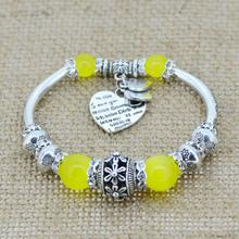 Fashion Silver Plated Jewelry Love Heart Charm  Bracelets & Bangles Glass Beads Strand Bracelets for Women 2016 Fine Jewelry(China (Mainland))