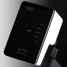 Portable 300Mbps 2.4GHz 5GHz WiFi Repeater Wireless Router with Wall in Socket Support WPS One Key Encryption ( AC 100 – 240V )