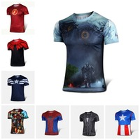 Neue 2015 Batman Spiderman Ironman Superman Captain America Winter Soldier Marvel T-Shirt Avengers Kostüm Comics Superheld Herren