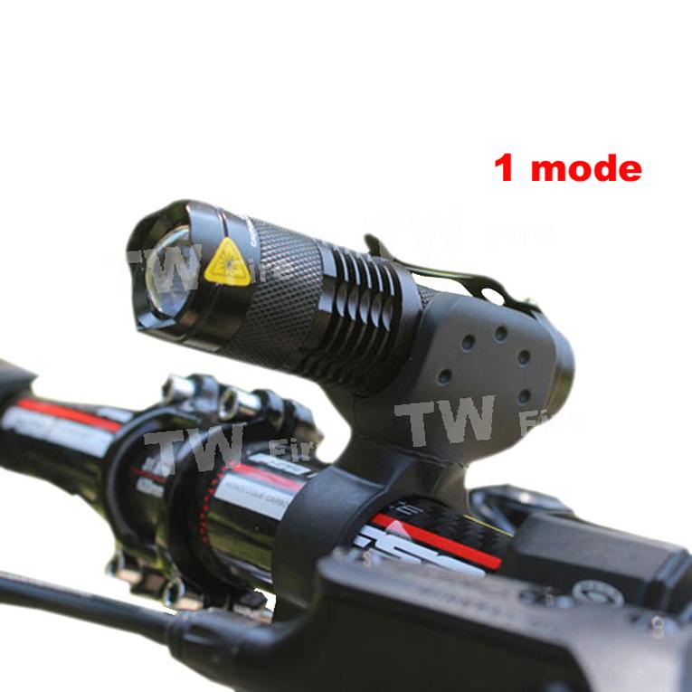 2000lm bike light mini CREE Q5 zoom flashlight mini torch LED Cycling Bike Bicycle Front Head Light With holder(China (Mainland))