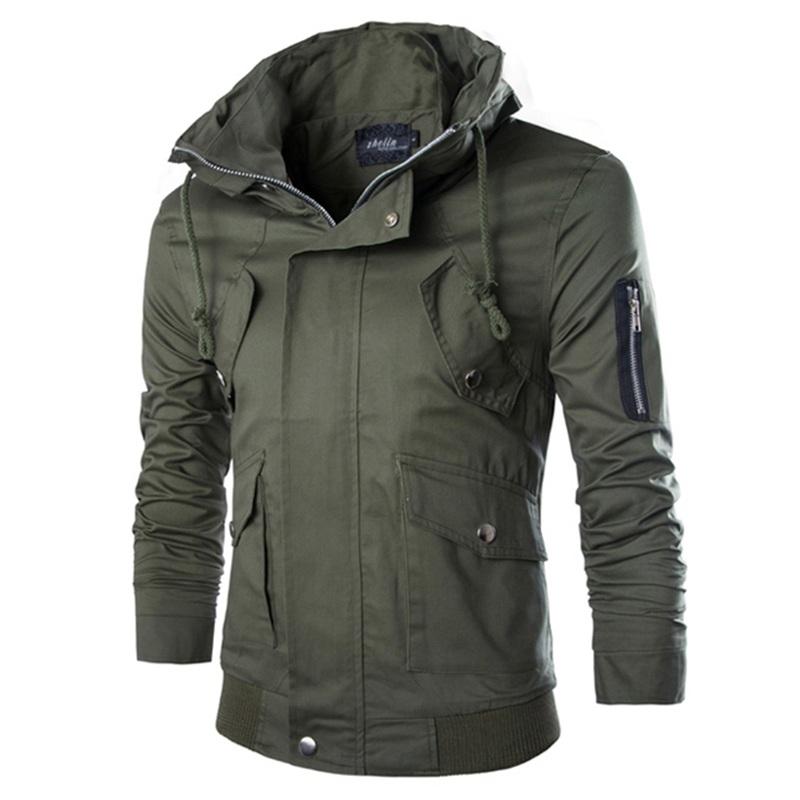 Fashion Design Men Outwear 2015 New Casual Delicate Zipper Stand Collar Men Jacket Slim Fit 5 Colors Mens Jacket Coat M-XXLОдежда и ак�е��уары<br><br><br>Aliexpress