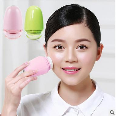 Face cleaning brush electric meter cleansing wash a face artifact ultrasonic pink 5.4*5.4*9(China (Mainland))