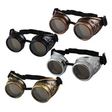 Unisex Gothic Vintage Victorian Style Steampunk Goggles Welding Punk Gothic Glasses Cosplay 4Colors Free Shipping