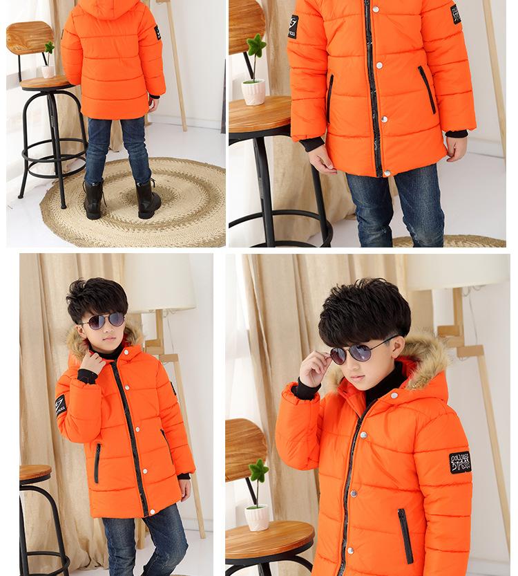 Скидки на 2016 новая мода дети мальчик зимнее пальто для возраста 4-13 год дети теплый хлопок куртка дети мальчик качество толстая одежда a26256b
