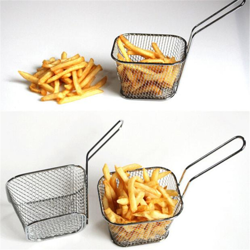 A5 1pc electroplate stainless steel Mini Frying net square block free shipping Wholesale(China (Mainland))