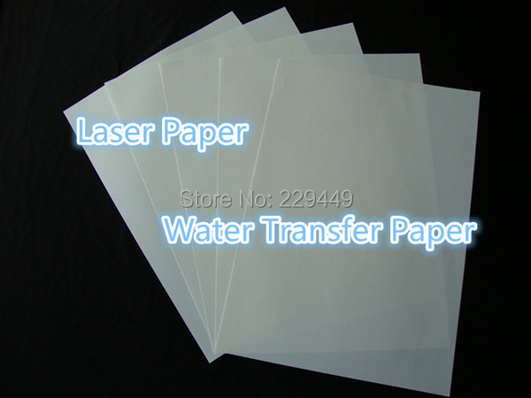 (A3*100 sheets) A3 Printing Paper Clear Color Laser Water Slide Decal Transfer Paper For Glass Ceramic Cup Wholesale Retail(China (Mainland))