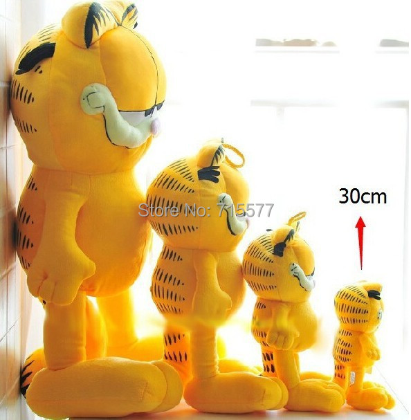 wholesale 1 piece Hot Selling! 75 cm Plush Garfield Cat Plush Stuffed Toy High Quality Soft Plush Figure Doll Free Shipping(China (Mainland))