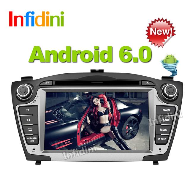 Pure Android 6.0 quad core 2 din car dvd gps radio stereo 2 din dvd for Hyundai iX35 Tucson 2009 2010 2011 2012 2013 2014 2015