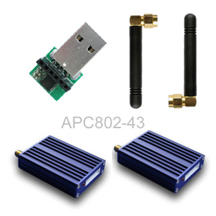 Apc802 wireless serial port module 3000m transmission distance 500mw rs232 rs485 ttl interface(China (Mainland))