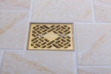 5404 Construction & Real Estate Fashion Ross Brass Grate Floor Register Waste Drain 4″ x 4″ Flower Art Floor Drain