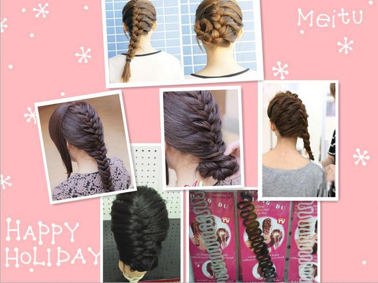 Supplier Wholesale Hair Braider Twist Styling Braid Tools Magic Wonder Holder Clips DIY French Free Shipping(China (Mainland))