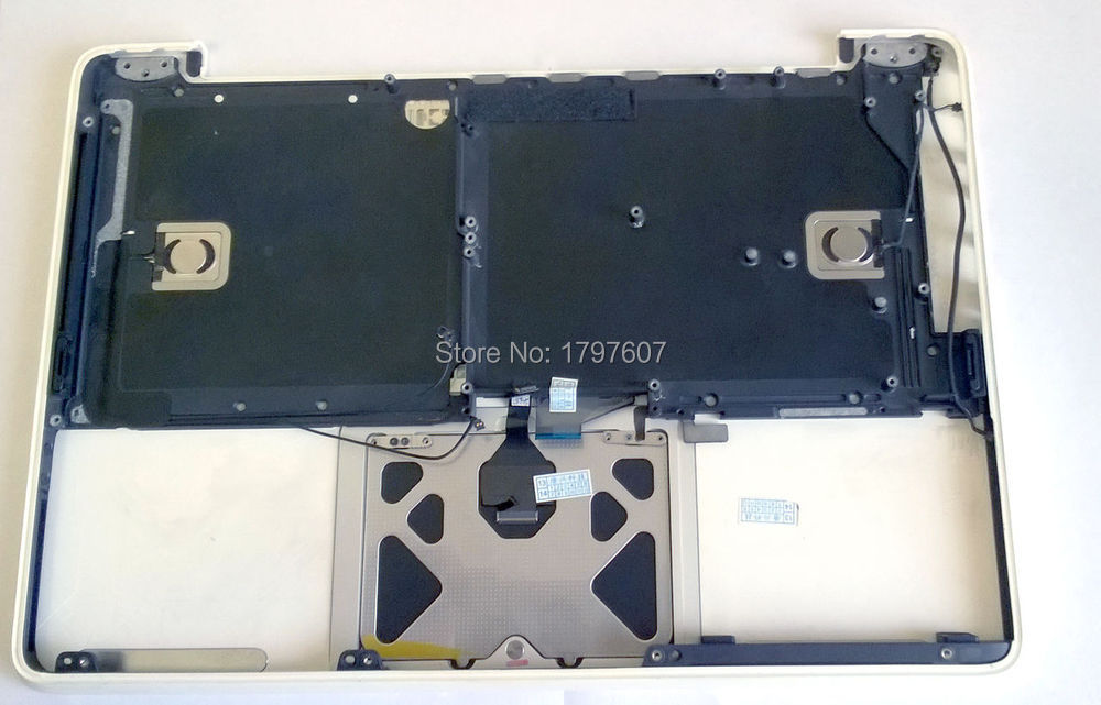 For MacBook Unibody A1342 MC207 MC516 US Keyboard with trackpad 90% New condtion(China (Mainland))