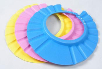 NEW Adjustable Safe Shampoo Shower Bath Cap for Baby Children 4pcs/lot
