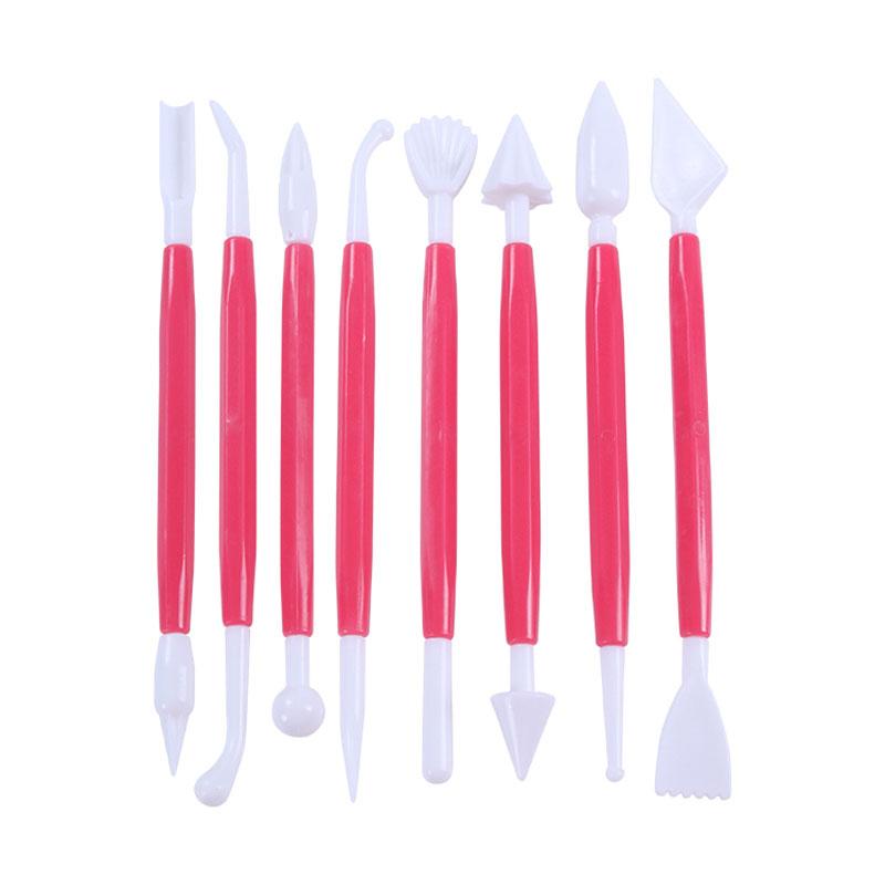 8pcs/set Kitchen Products Baking Utensils / Fondant Cake Decorating Modelling Tools Fondant Cake Carving Chisel Shaping Pen(China (Mainland))