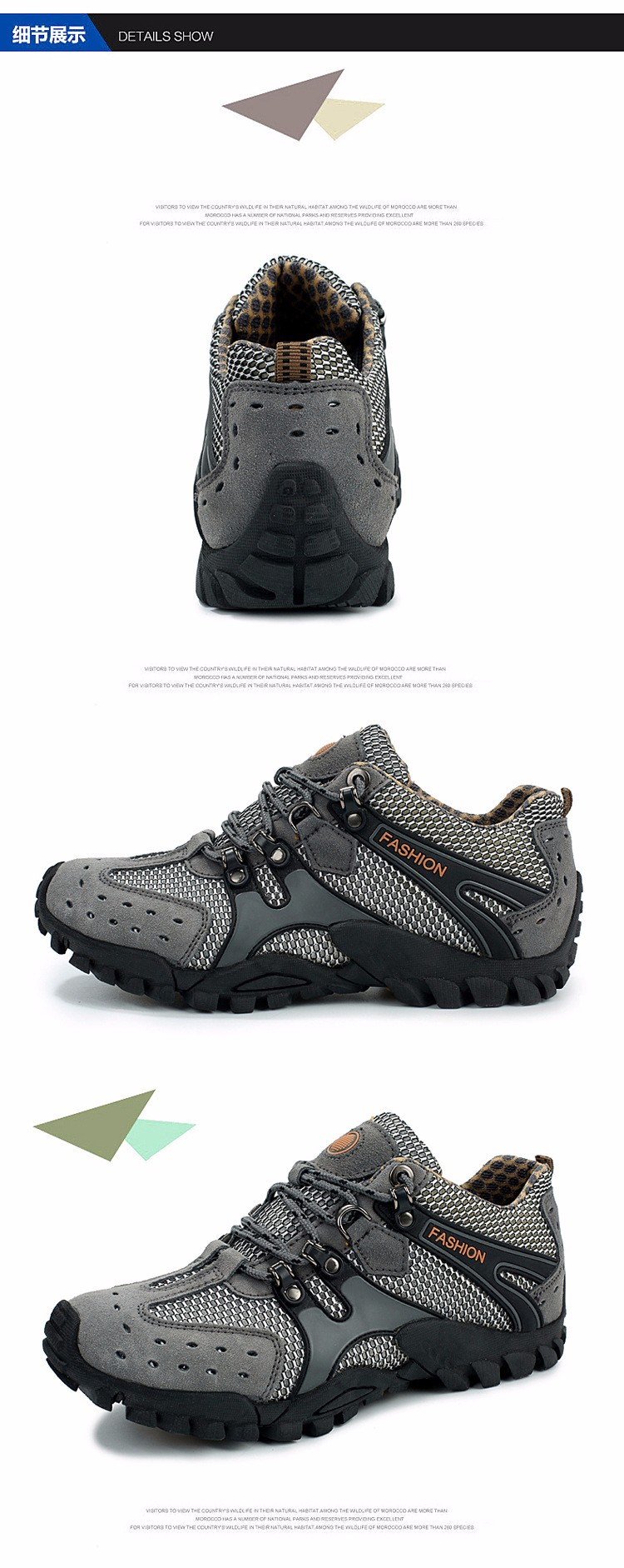 Outdoor Breathable Shoes Men Lightweight Walking Climbing Shoes Anti-skid Men Aqua Water Trekking Shoes Men (20)