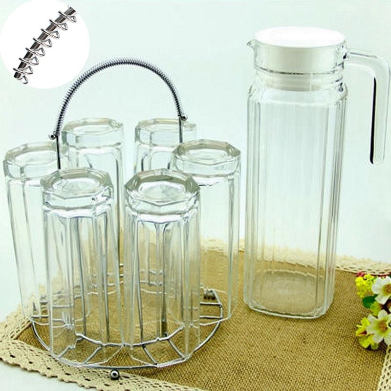 1Pcs Fashion Design Stainless Steel Glass Rack Holder Stand Organizer Tea Coffee Cup Holder Garden Decor(China (Mainland))