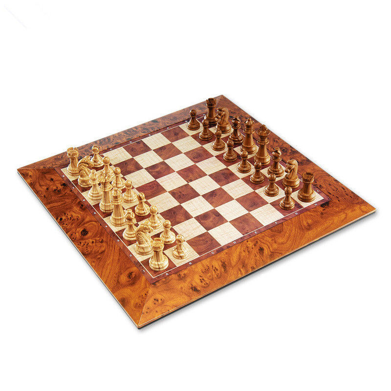 Brand Classic Wood Champions magnetic Chess Set Board Game Wooden Chess Pieces Magnetic Board tabuleiro jogo de xadrez checkers(China (Mainland))