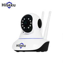 Hiseeu Double Wireless IP Camera Wifi home security camera HD Cctv Camera P2P camera  TF card H.264  Android Baby Monitor FH1