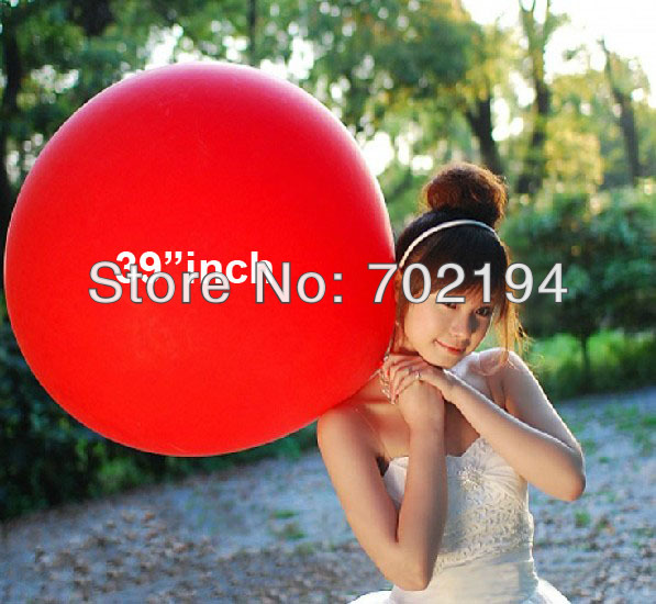 50pcs/lot latex balloons super size largest 36/39 inch air balloonforn wedding birthday party air balls free shipping(China (Mainland))