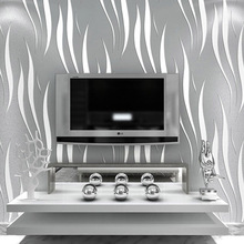 Modern Solid Curve Pattern Wallpaper 3D Mural Wall Decals Fresh Textile Non-woven Bedroom Wallpapers Sofa Wall Paper QZ072(China (Mainland))
