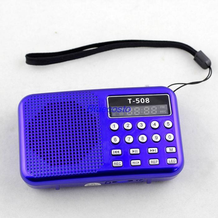 Retail B 2014 Portable Digital Pocket LED Stereo FM Radio MP3 Music Player Speaker FS