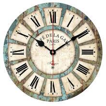 European Style Vintage Creative Round Wood Wall Clock Quartz Bracket Clock(China (Mainland))