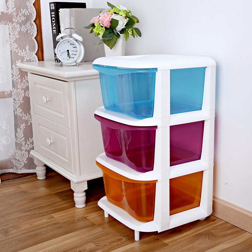 Hecheng plastic drawer type storage cabinet assembly toy cabinet finishing 5 baby baby wardrobe lockers(China (Mainland))