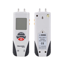 HT-1890 Digital Manometer LCD Differential Gauge Kit + Retail Box Air Pressure Meter Pressure Gauges Data Hold 11 Units +Case(China (Mainland))