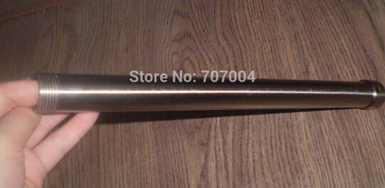 Free Shipping Wholesale and Retail Brushed Nickle 30cm long Extension Tube For Shower Faucet(China (Mainland))