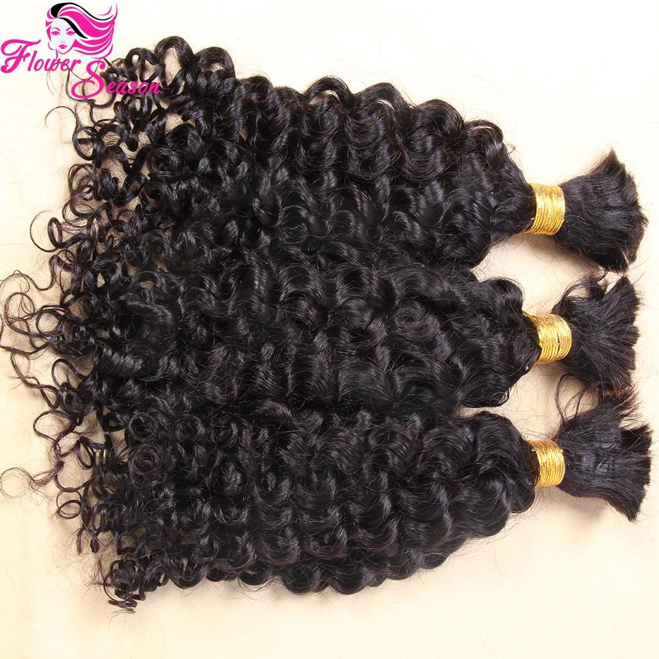 1 Piece 7A Grade Curly Human Braiding Hair Bulk For Extension Natural Color Virgin Braiding Hair No Weft No Attachment